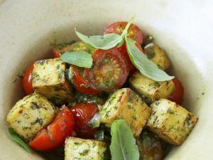 Kräuter-Tofu mit Tomaten Rezept