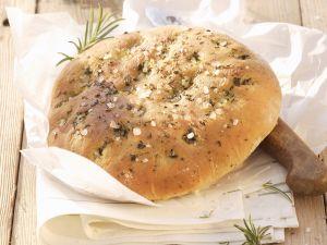 Kräuterfladenbrot auf toskanische Art (Focaccia) Rezept