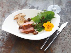 Kräutersalat mit Wildentenbrust Rezept