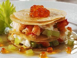 Krebssalat-Knusper-Türmchen Rezept