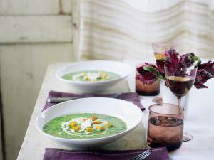 Kressesuppe mit Frischkäse Rezept
