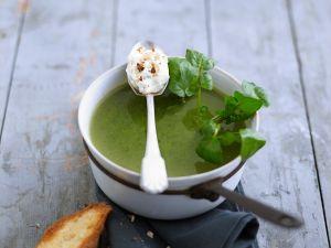 Kressesuppe mit Käsecreme Rezept