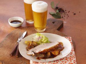 Krustenbraten in Biersoße Rezept