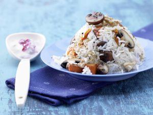 Kürbis-Champignon-Reis Rezept