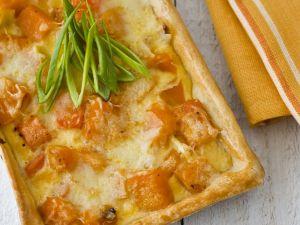Kürbis-Gemüse-Quiche Rezept