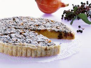 Kürbis-Holunderbeeren-Kuchen Rezept