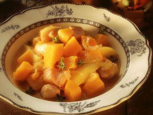Kürbis-Kartoffeleintopf mit Kasseler Rezept
