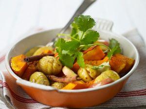 Kürbis-Kastanien-Gemüse Rezept