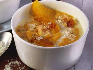 Kürbis-Kokos-Suppe mit Orangen Rezept