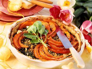 Kürbis-Spinat-Kuchen Rezept