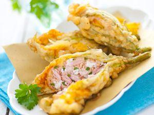 Kürbisblüten mit Thunfisch-Ricotta-Füllung Rezept