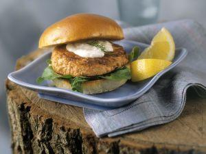 Lachs-Burger Rezept