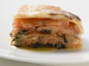 Lachs-Lasagne Rezept