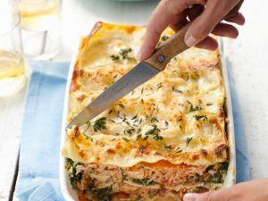 Lachs-Lasagne mit Spinat Rezept