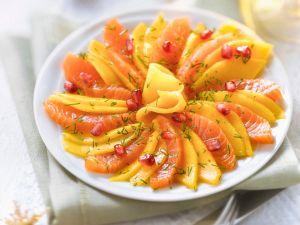 Lachs-Mango-Sashimi Rezept