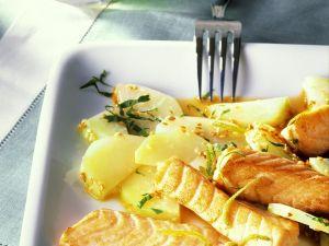 Lachs mit Kohlrabigemüse Rezept