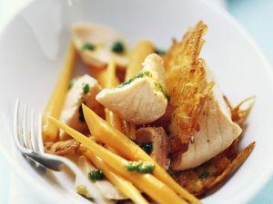 Lachs mit Möhren und Bärlauchöl Rezept