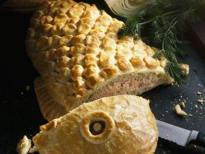 Lachs mit Weißkohl im Teigmantel Rezept