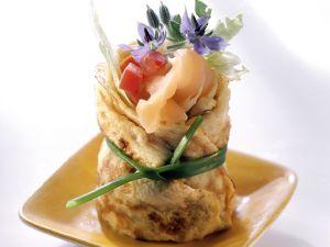 Lachs-Omelett-Röllchen Rezept