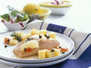 Lachsfilet mit Kapern und Kartoffeln Rezept