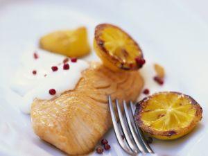 Lachsfilet mit Zitrone Rezept