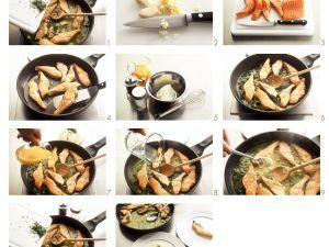Lachsfilets mit Orangen-Wasabi-Soße Rezept