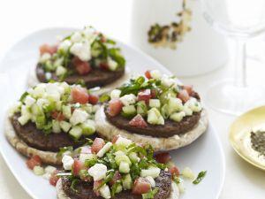 Lamm-Burger mit Schafskäse und Tomaten Rezept