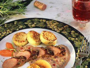 Lamm mit Apfel und Kartoffeltalern Rezept