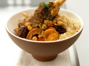 Lamm mit Kichererbsen und Couscous Rezept