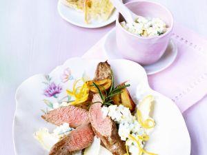 Lamm mit Spargel und Joghurtsauce Rezept
