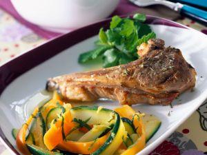 Lamm und Zucchini-Möhrengemüse Rezept