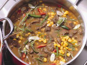 Lammeintopf mit Bohnen und Mais Rezept