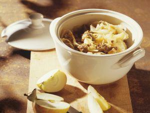 Lammfleisch mit Weisskohl Rezept