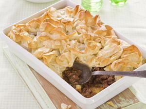 Lammfleischkuchen mit Filoteig Rezept