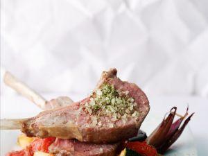 Lammkarree mit Ratatouille Rezept