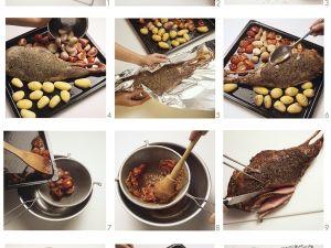 Lammkeule mit Kartoffeln aus dem Ofen Rezept