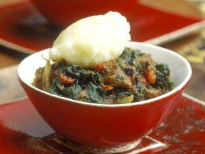 Lammragout mit Gemüsebrei Rezept