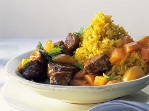 Lammragout mit Reis Rezept