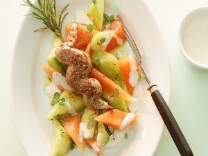 Lammspieß mit fruchtigem Gurkensalat Rezept
