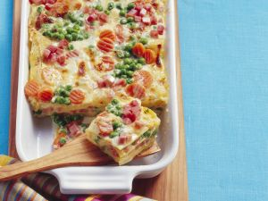 Lasagne mit Gemüse und Speck Rezept