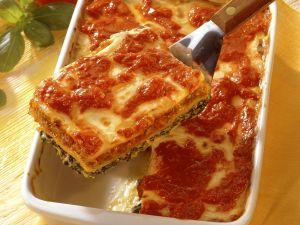 Lasagne mit Hackfleisch und Spinat Rezept