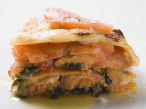 Lasagne mit Lachs Rezept