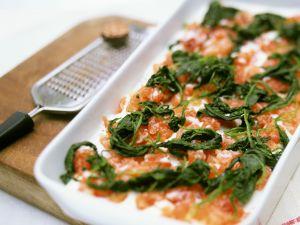 Lasagne mit Lachs und Spinat Rezept