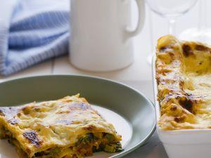 Lasagne mit Spinat und roten Linsen Rezept
