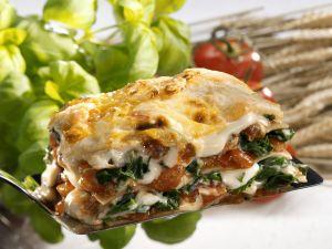 Lasagne mit Spinat und Tomaten Rezept