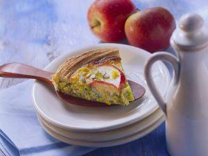 Lauch-Apfel-Quiche Rezept