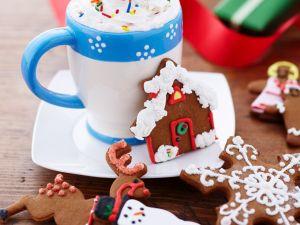 Lebkuchenkekse mit Trinkschokolade Rezept