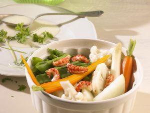 Leipziger Allerlei mit Shrimps Rezept