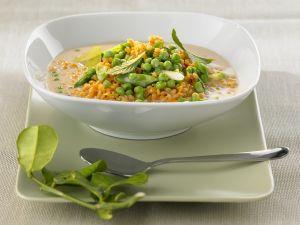 Linsen-Curry mit Erbsen Rezept