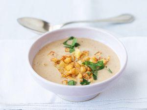 Linsen-Kokossuppe mit Bratkartoffelwürfeln Rezept